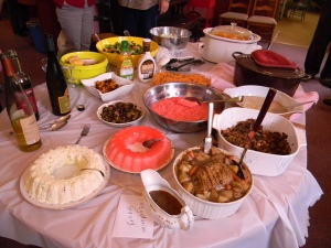Table of Goodies - Thanksgiving Potluck 2012