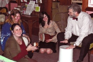 Drumming Circle after the Winter Solstice service at Pullman Memorial