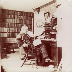 Rev. Charles L. Fluhrer, D.D. in his home study