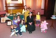"Bunny-bearing children with ""Beatrix Potter"" (Gretchen Sepik)"