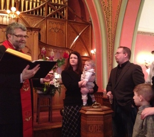 Child Dedication at Pullman Memorial Universalist Church
