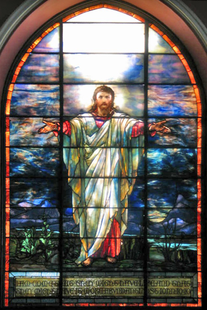 Jesus Window by Tiffany in Pullman Memorial Universalist Church
