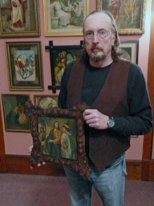Bill Lattin with Images of Jesus