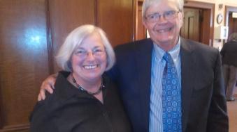 Rev. Hood and Happy Member Sylvia