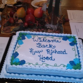 Welcome Back, Rev. Richard Hood