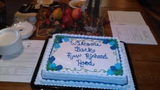 Welcome Back, Rev. Richard Hood