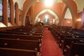Looking West in the Sanctuary